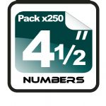 "4.5"" Race Numbers - 250 pack"